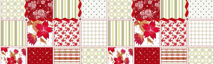 Patchwork Patterns by Wall Art Prints