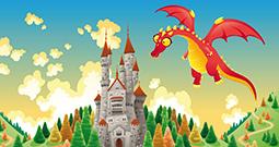Wall Art Prints - Knights and Dragons