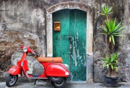 Vespa at the door