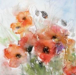 Watercolour poppies
