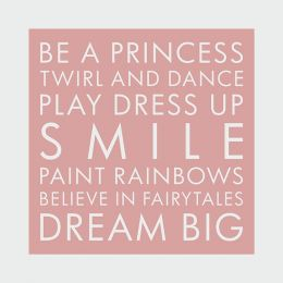 Be a princess  sc 1 st  Wall Art Prints & Inspirational Quotes | Wall Art Prints